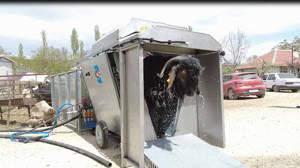 Büyükşehir Belediyesi besiciliğe destek için dış parazit ilaçlama makinası aldı